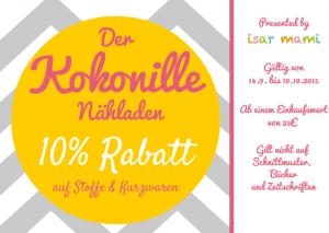 EXKLUSIV – 10% Gutschein für Stoffe, nur mit isar mami!