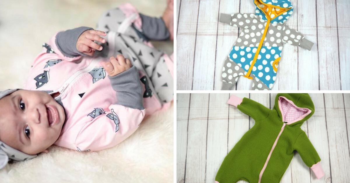Schnittmuster und Anleitung - Jumpsuit für Babies und Kleinkiner