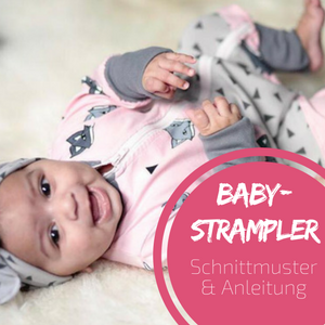 """Kostenloses Schnittmuster – Babystrampler """"Jolly Jumper"""""""
