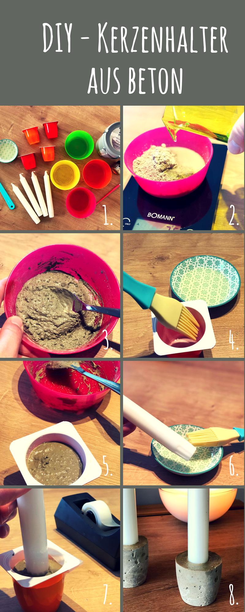Schüsseln und Kerzenhalter aus Beton - Anleitung und Tipps