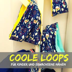 Loop nähen – Anleitung und Schnittmuster für Jersey-Loops